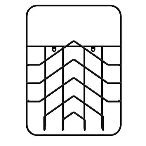 LM 42 Magazinhalter Wandregal Arrow, Schwarz Stahl finnisches Design, Zeitungshalter Wand Organizer Zeitschriftenhalter Briefablage