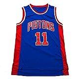Uniforme De La Leyenda del Baloncesto Jersey-Isiah Thomas NO.11 Detroit Pistons Baloncesto Masculino, Camisas Cesta Competición Deportes De Los Hombres, Alero Jersey Gran Blue-L