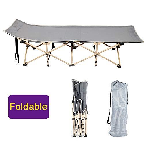 LOY Cama Plegable Interior/Exterior - Cuna Plegable portátil Puede soportar 100 kg, Catre de Camping Ligera con Bolsa de Transporte (190x71cm)
