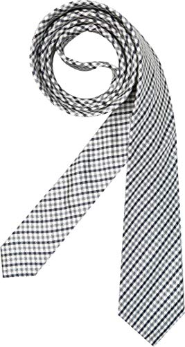 Hugo Boss Herren Krawatte Herren-Accessoire mit Karos Grau Onesize