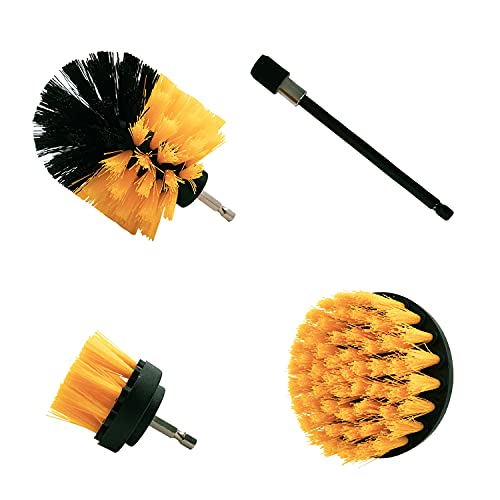 SLKIJDHFB Set di 4 spazzole per la pulizia elettrica compatibili con trapano rapido, spazzola per la pulizia di pavimenti, auto, vasche da bagno e piastrelle del bagno, ecc.