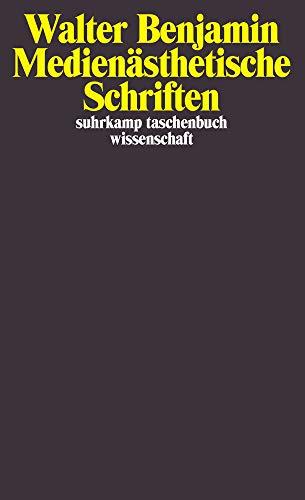 Medienästhetische Schriften (suhrkamp taschenbuch wissenschaft)