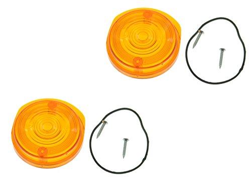 Blinkerkappe rund vorn 1 Paar passend für MZ SIMSON orange mit Prüfzeichen