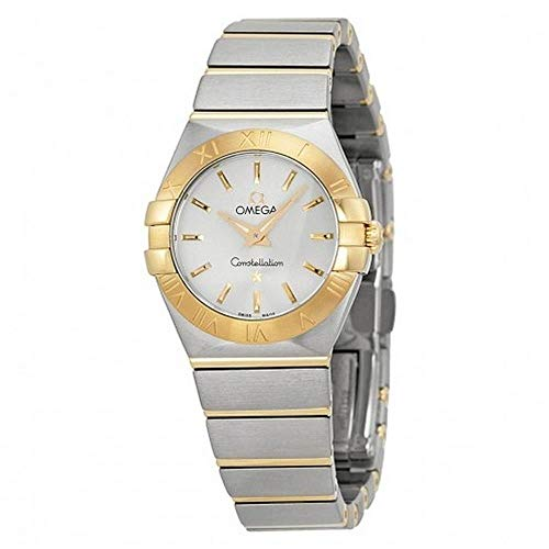 Omega Constellation Steel & 18k Gold Quartz Womens Watch Silver Dial 123.20.24.60.02.002
