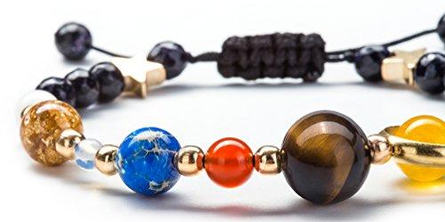 Product Image 3: Fesciory Women Men Solar System Bracelet Universe Galaxy The Eight Planets Guardian Star Natural Stone Beads Bracelet Bangle(Blue Sandstone(Adjustable))