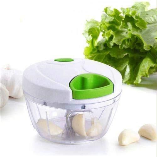 Mini Processador de Alimentos Manual - 3 Lâminas Triturador Picador Alho, Cebola e mais