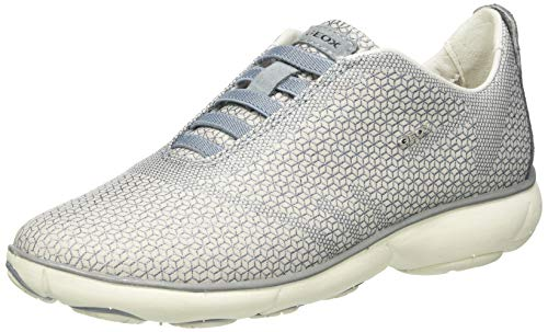 Geox Damen D Nebula E Sneaker, Sand/Lt Avio, 40 EU