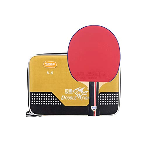 Lowest Price! HUIJUNWENTI Table Tennis Racket, Horizontal Shot, Pen-Hold 8-Star Pure Wooden Floor Ra...