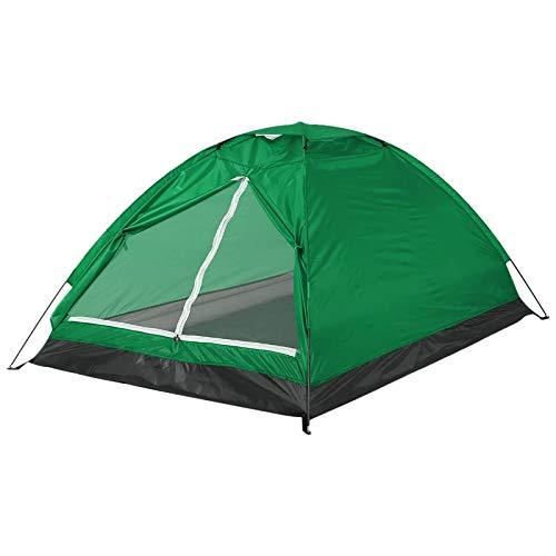 Tienda de campaña PN-Braes para 2 personas de una sola capa para viajes al aire libre y senderismo (tamaño: 200 x 130 x 110 cm; color: naranja)