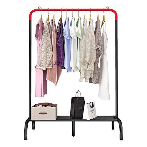 Jianghuayunchuanri Perchero para Ropa Ropa Independiente Estante de Ropa Tendedero diseño Simple Exhibición Colgante del Vestido (Color : Rojo, Size : 90X44X139CM)