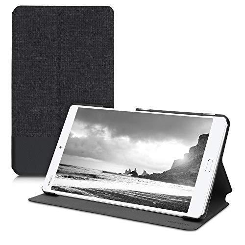 kwmobile Schutzhülle kompatibel mit Huawei MediaPad M3 8.4 - Hülle Slim - Tablet Cover Hülle mit Ständer Anthrazit Schwarz