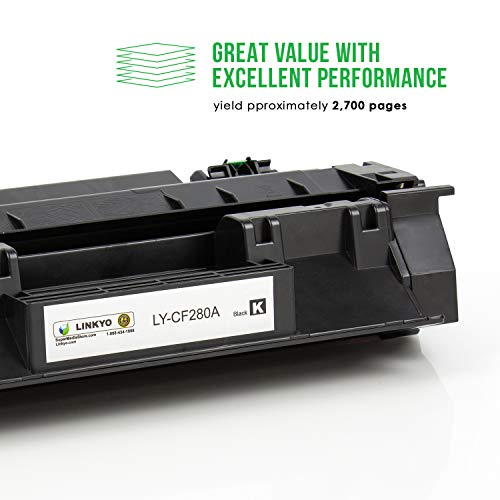 LINKYO Compatible Toner Cartridge Replacement for HP 80A CF280A (Black) Photo #3