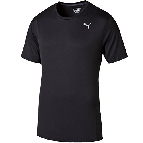 PUMA Essentials Maglietta da Allenamento, Maglietta da Corsa, a Maniche Corte, Colore Nero/periscopio, Taglia S
