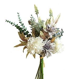 KIRIFLY Artificial Fake Flowers Plants Silk Flower Arrangements Wedding Bouquets Decorations Plastic Floral Table Centerpieces for Home Kitchen Garden Party Décor