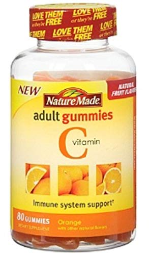 Nature Made Vitamin C Adult Gummies, Tangerine 80 ea (Pack of 6)