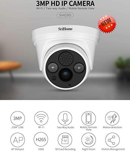 Sricam SriHome SH030 Überwachungskamera WiFi IP Kamera Wireless INFRAROT 3.0 Megapixel HD IR Cut ONVIF P2P Unterstützung SD Audio