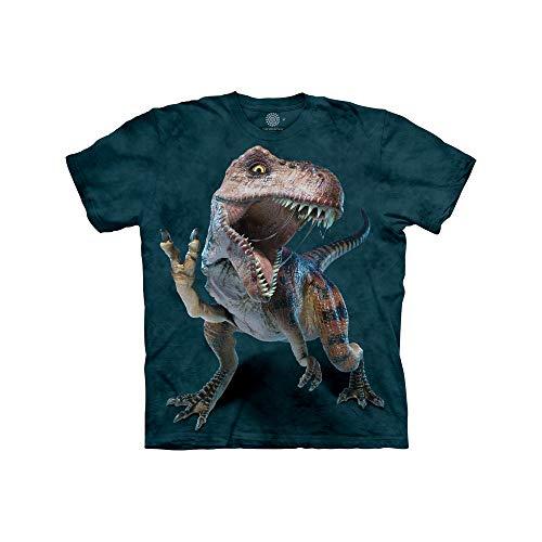The Mountain Peace Rex Kids tee Camiseta, Verde, M Unisex niños