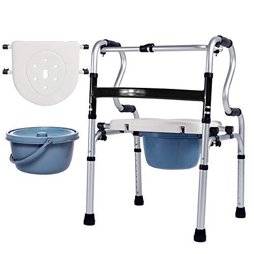 MYYLY rolstoel voor kinderwagen, vrijstaand, aluminiumlegering, praktische walker met hygiënische kom, zachte zitting, waterdicht, in hoogte verstelbaar, gewicht van het kussen 180 kg, opvouwbaar