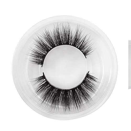 MoGist 1 Paire Faux Cils Cils Noirs 3D Naturel Épais À La Main en Plastique Fils De Coton Terrier Cheveux Volumineux Mode Lashes Maquillage De Mode Fi