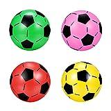Balón de fútbol hinchable de plástico para niños, 4 unidades