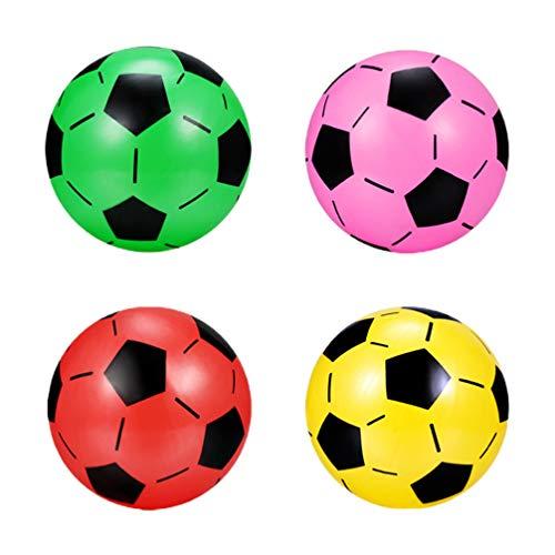 BESPORTBLE 4Pcs Ballon de Football Gonflable en Plastique En