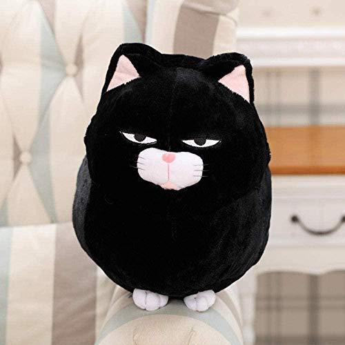 JIAL OmeDecor 30 / 40Cm Ese Anime Cat Peluches Animales de Peluche Muñecas Dibujos Animados Push EEN Cat Dolls Niños Regalo de cumpleaños-40Cm_White chongxiang
