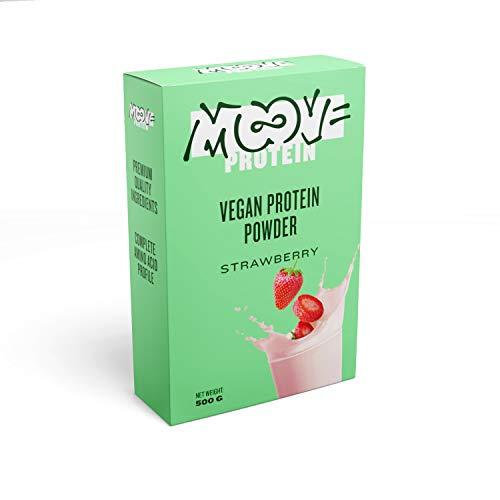 Moove - Polvo de proteínas veganas, sabor a fresa