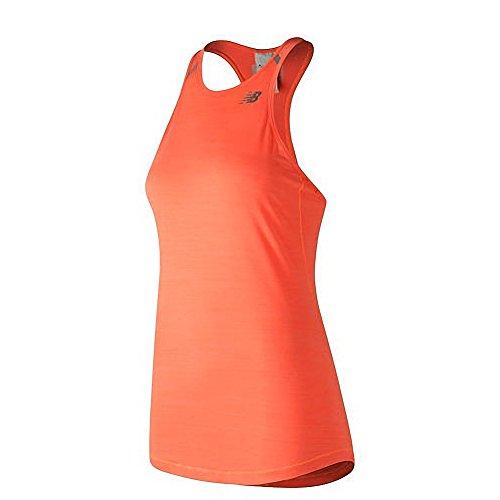 New Balance - Camiseta sin Mangas para Mujer, Evergreen, Estacional, Mujer, Color Naranja, tamaño Medium