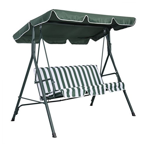 """Swing Top Cover Canopy Replacement Porch Patio Outdoor 66""""x45"""" 75""""x52"""" 77""""x43"""" 75"""" L x 52"""" W Green -  Unbranded"""