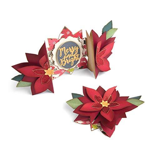 Sizzix Thinlits Jen Long - Set di 9 fustelle per stencil a forma di stella di Natale, piegate, multicolore
