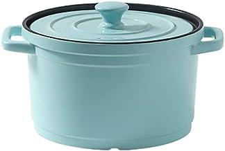 Saucepan Ceramics Kitchen Pot Induction Stockpot Small Sauce for Home Kitchen Pasta Pot Milk Pan (Color : Blue)