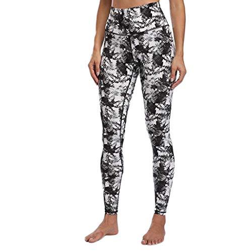 Pantalons Leggings Yoga Femme Taille Haute Jegging à Motif Slim Stretch Collant Extensible Legging de Sport Femme Pantalon De Crayon pour Sports Casual Running Gym