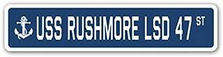 USS COMSTOCK LSD 45 Aluminum Street Sign us navy ship veteran sailor gift