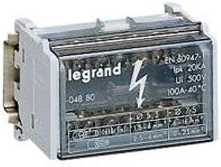 Legrand LEG04877 R/épartiteur modulaire monobloc 4p 250 A 12 connexions 9 modules