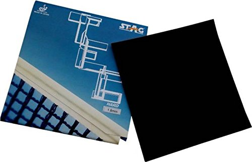 Stag Tec Hard Max Table Tennis Rubber, 2mm (Black)