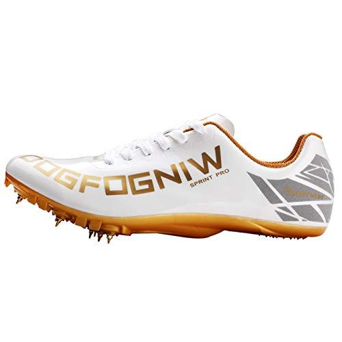 X/L Zapatos con Clavos de Pista Zapatillas de Atletismo de Atletismo para Mujer y Hombre Zapatillas de Atletismo para niños y niñas Entrenamiento Sprint (Color : A, Size : 6.5 UK)