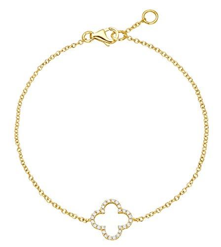 Bijoutier Jaune Trèfle Bracelet Or Jaune 18Carats 750/0000