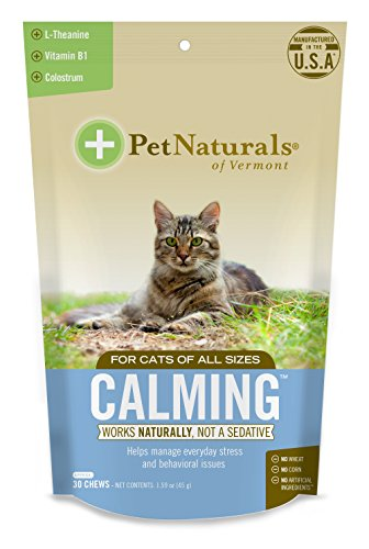 Pet Naturals of Vermont - Calming for Cats, Behavioral Support Supplement, 30 Bite Size Chews