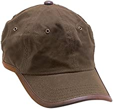 Dorfman Pacific Fleece Lined Winter Baseball Hat Water Repellant Oil Cloth - Adjustable up to XL Brown