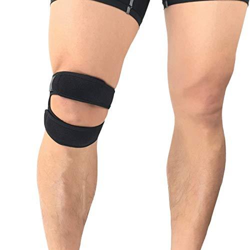 VITTO Kniebandage | Verstellbare Kniebänder | Kniestütze zur Unterstützung von Joggen, Sehnenentzündung und Arthritis - für Damen und Männer (Mittel, Schwarz)