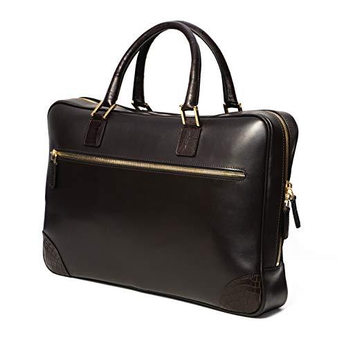 Chiccheria Brand Luxus Leder Briefcase Tasche Bekannt aus GQ Laptoptasche Krokodilleder Premium Qualität Gentleman Herren Stil MADE IN ITALY