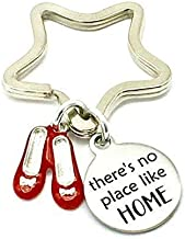 There's No Place Like Home, Wizard of OZ Inspired, Laser Etched Star Keyring