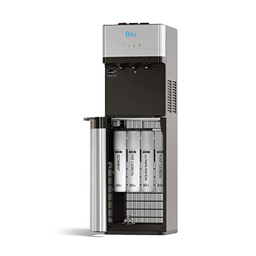 Brio Self Cleaning Bottleless Water Cooler Dispenser, UL/Energy Star, Stainless Steel, Point of Use Drinking Water Filter, Hot, Cold, and Room Temperature