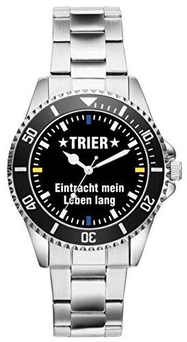 Trier Eintracht Geschenk Artikel Idee Fan Uhr 2560