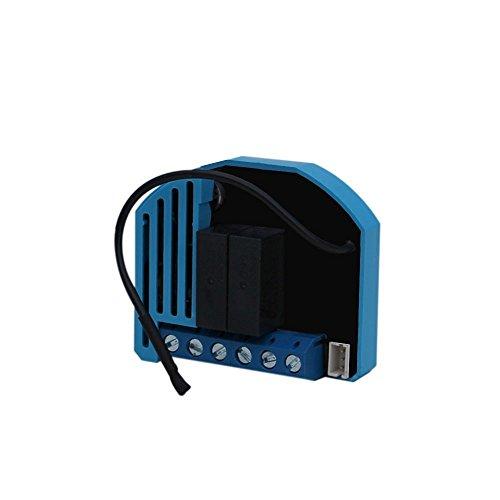 Qubino ZMNHCD1 Flush Shutter inbouwmicromodule EU Z-Wave Plus, 1 stuk, zwart/blauw