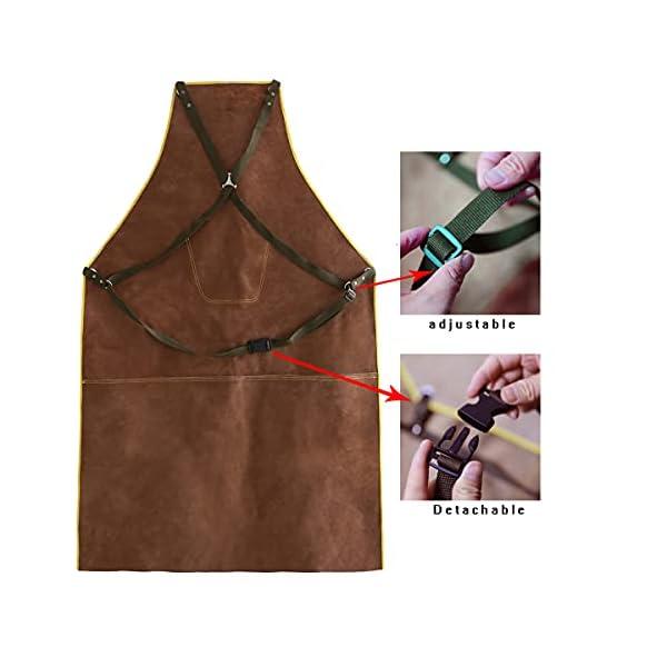 OLSON DEEPAK Leather Welding Work Apron 2
