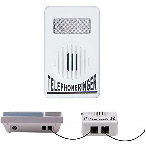 BAAQII Verstärker Blitzleuchte Blinkerglocke Extra Laute Telefonklingel Telefonklingel