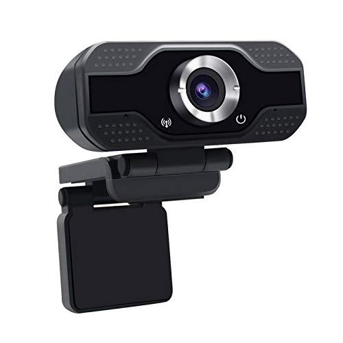 Práctico 1080P HD Webcam cámara incorporada del micrófono USB Smart Web Streaming Beauty Live cámara de la computadora androide TV, Elegante y Compacto, Sencillo y práctico