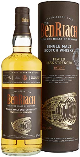 Benriach Peated Cask Strength Whisky mit Geschenkverpackung (1 x 0.7 l)