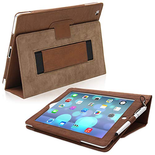 Snugg iPad 3 & 4 Case - Smart Cover with Flip Stand & (Distressed Brown Leather) for Apple iPad 3 and 4